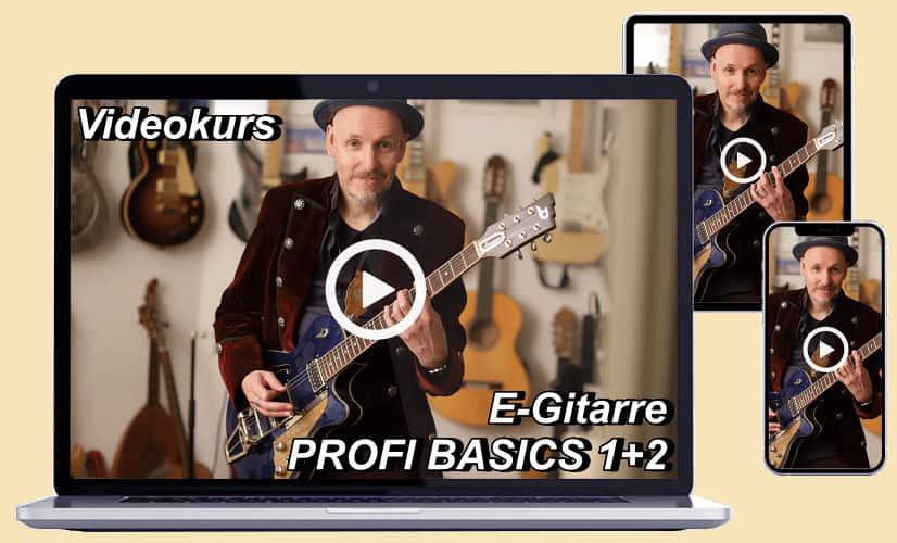Videokurs E-Gitarre Profi Basics 1+2